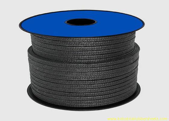 China Embalagem preta do Teflon PTFE para a corda do material de selagem/da embalagem glândula da grafite distribuidor